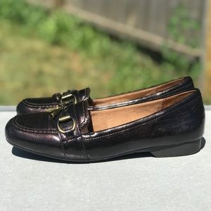 Life Stride Brown Metallic Loafers Ladies 9